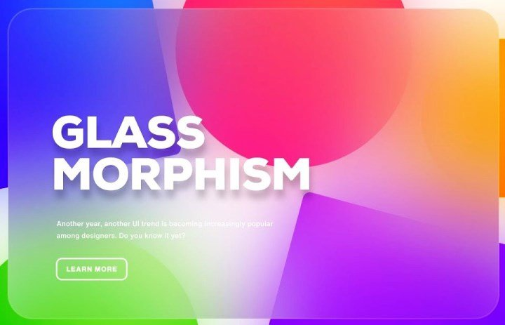 Glassmorphism UI 2021